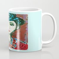 matisse Mugs featuring LADY MATISSE IN TEEN YEARS by JANUARY FROST