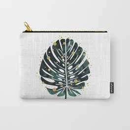 Holiday Monstera Carry-All Pouch