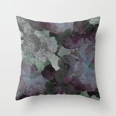 Floral Aubergine Throw Pillow