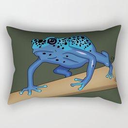 The Blue Dendrobate Rectangular Pillow