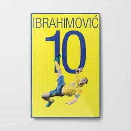 Zlatan Ibrahimović Sweden Bicycle Kick Print Metal Print