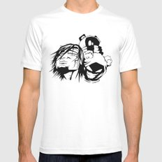 Content with KAOS characters MEDIUM White Mens Fitted Tee