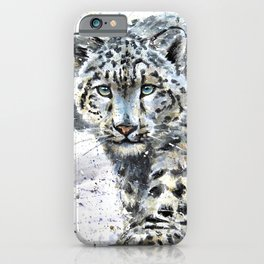 Snow leopard Wild and Free iPhone Case