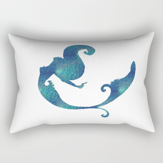 Azure mermaid Rectangular Pillow