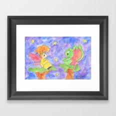 Faerie and Little Monster Framed Art Print