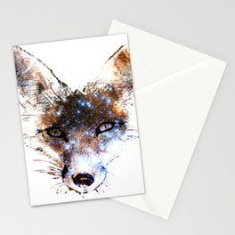 Stars in a Fox Stationery Cards