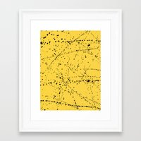 dazed and confused Framed Art Prints featuring Dazed + Confused [Yellow] by Galaxy Eyes