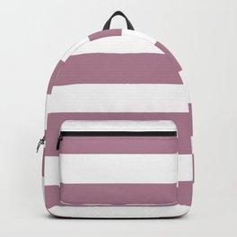 English lavender - solid color - white stripes pattern Backpack