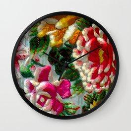 Chintz Egg Wall Clock