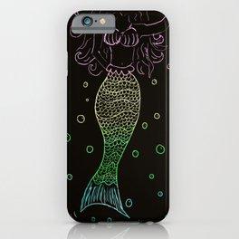 Mermaid In The Dark iPhone Case