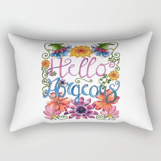 Hello Gorgeous Rectangular Pillow