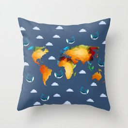 World of Whales Throw Pillow