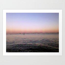 Sailing in Lisbon Portgal Art Print