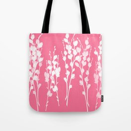 Big Azalea Pink Pussywillow Silhouettes Tote Bag