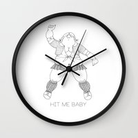 britney Wall Clocks featuring BRITNEY SPEARS by Stinky Bitches