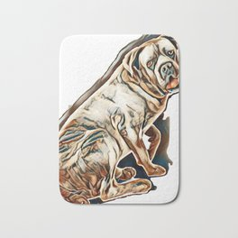 cane corso in front of white background        - Image Bath Mat