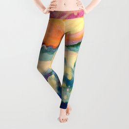 My Starry Watercolor Night Leggings
