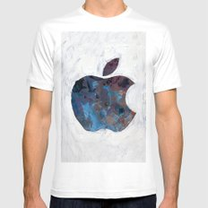 Painted Apple MEDIUM Mens Fitted Tee White