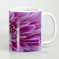 shabby chic Mugs featuring Shabby Chic Flower by Dawn OConnor
