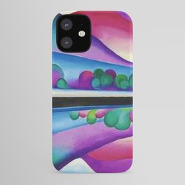 Lake George Reflection landscape painting by Georgia O'Keeffe iPhone Case