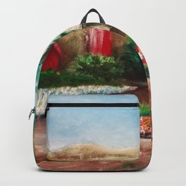Somis, Ca Greenhouse – Acrylic Painting Backpack