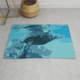 Meet me in Hawaii, sea turtle Rug