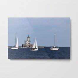 3 Sailboats Metal Print