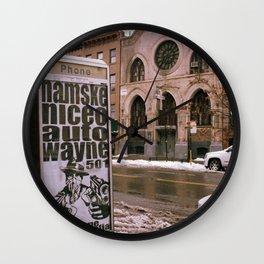 Beige City Wall Clock