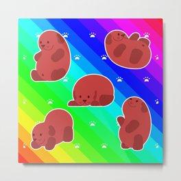 Rainbow Panda Metal Print
