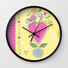 Sparkling blooms Wall Clock