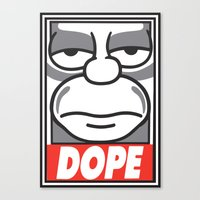 homer Canvas Prints featuring Dope Homer by MaNia Creations
