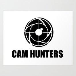 CAM HUNTERS logo Art Print