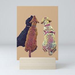 Three Amigos I in tan Mini Art Print
