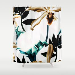 Abstract tropical nature painting I Shower Curtain