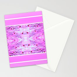 Peacock Pretty In Pink Stationery Cards