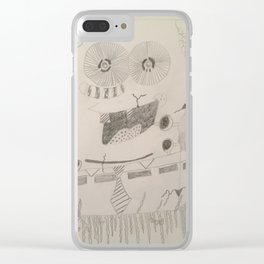 Spongebob Deathpants Clear iPhone Case