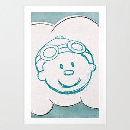 Mr. Meteo Art Print