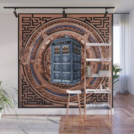 Aztec Tardis Doctor Who Full Color Pencils Sketch Wall Mural