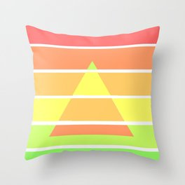 Rainbow Gradient Triangle Throw Pillow