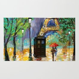 TARDIS IN THE PARIS Rug