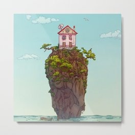 THE HOUSE ON THE CLIFF Metal Print