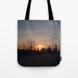 Sunrise Charles Bridge  Tote Bag