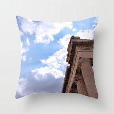 Sky above Parthenon Throw Pillow