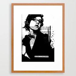 He Looks Shattered Framed Art Print