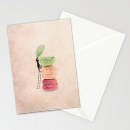 The macaroons hatter Stationery Cards