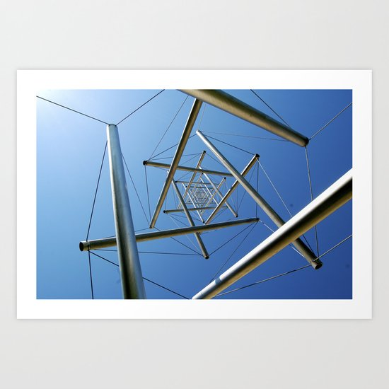 "The Sculpture ""Needle Tower"" by Kenneth Snelson in Washington, D.C.  Art Print"