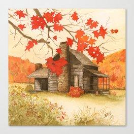 Smoky Mountain Cabin Canvas Print