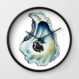 Oyster Watercolor Art Wall Clock