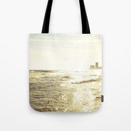 Sparkle Sunset Beach Tote Bag