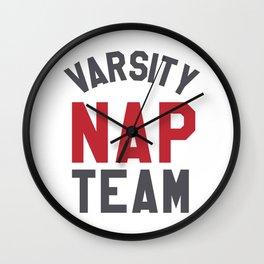 Varsity Nap Team Wall Clock